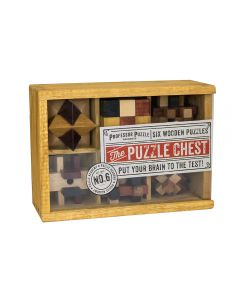 The puzzle chest Σετ/6 ξύλινα παζλ σε κασετίνα 20Χ14Χ7